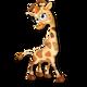Cría jirafa beige