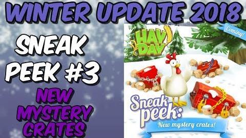 HAY DAY-SNEAK PEEK 3!! NEW MYSTERY BOXES!! WINTER UPDATE 2018!!