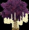 Purple Tree With Lights