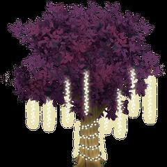 Purple Tree with Lights★