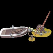 Barca da pesca rotta