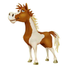 Pinto horse Standing