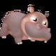 Bébé Hippopotame Gris