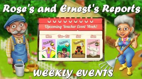 Hay Day Rose's and Ernest's Reports Weekly Events!!