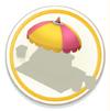 Awning Pink Umbrella