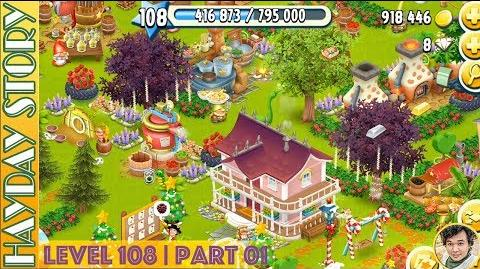 Resuming 8 Steps in Hay Day Level 108 Part 01