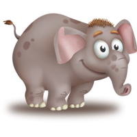 Grey Elephant Calf