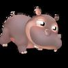 Cría hipopótamo gris