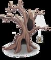 Baum mit Spinnen