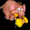 Cría elefante marrón
