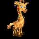 Cría jirafa amarilla