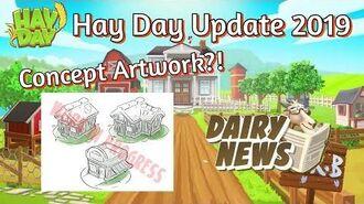Hay Day Update 2019 Dairy Blog! Concept Artworks!