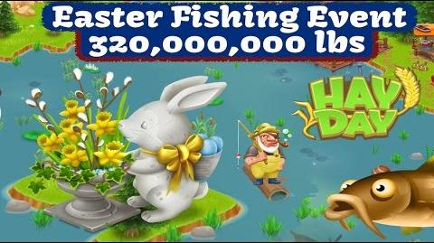 Hay Day - Easter Fishing Event 2017 - Rabbit Statue