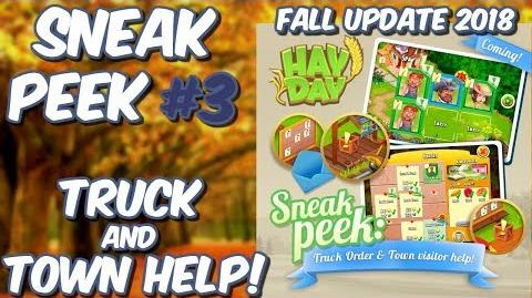 HAY DAY-SNEAK PEEK 3!! FALL UPDATE 2018!! TRUCK AND TOWN HELP!!