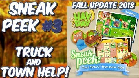 HAY DAY-SNEAK PEEK 3!! FALL UPDATE 2018!! TRUCK AND TOWN HELP!!
