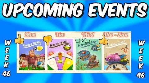 HAY DAY-UPCOMING EVENTS!! DOUBLE COIN VISITORS!! GLOBAL FISHING!!