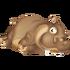 Hipopótamo marrón
