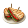 Specksalat auf Toast