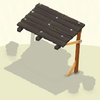 Awning Black Wooden