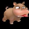 Cría hipopótamo marrón