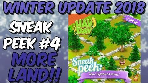 HAY DAY-NEW LAND!! EXCLUSIVE DECORATIONS!! WINTER UPDATE 2018!!