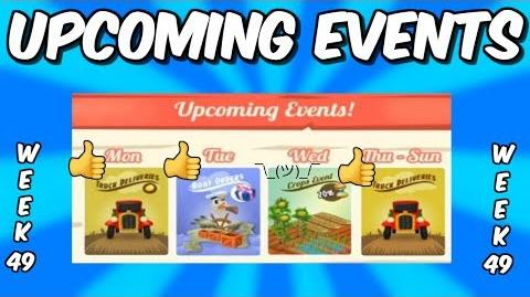 HAY DAY-UPCOMING EVENTS!! DOUBLE COIN TRUCKS!! CROP BOOST!!