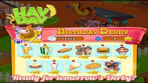 Hay Day Live Stream - Birthday Derby Product Prep