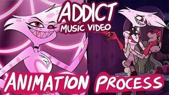 Addict Music Video (Hazbin Hotel) - Behind the Scenes Animation Process