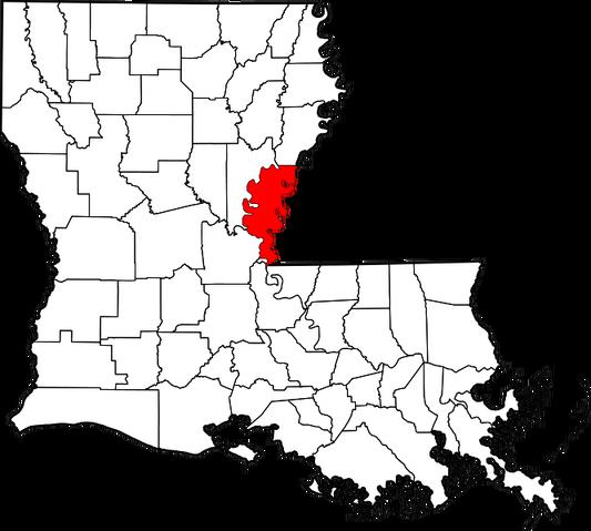 File:Map of Louisiana highlighting Concordia Parish.png