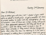Lyra Silvertongue's letter to Dr Polstead
