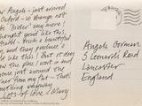 Mary Malone's postcard to Angela Gorman