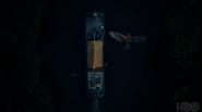 Gyptian boat from above