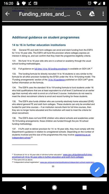 14-16 college funding 2019-2020