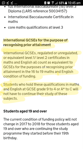 IGCSEs 16-19