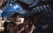 Ripley on shuttle