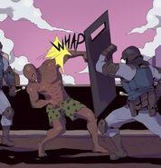 Zombie vs. cop