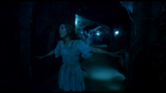 Denise trying to escape the catacombs