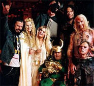 Rob Zombie with cast members