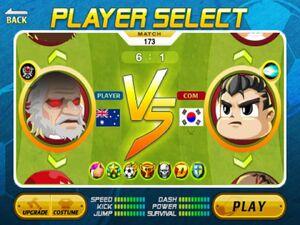 Australia VS South Korea in Arcade