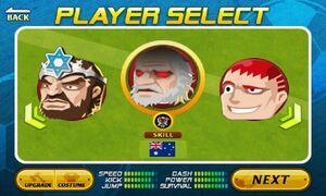 Australia in Character Choose Screen