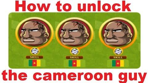 How to unlock the cameroon guy in Headsoccer TUTORIAL