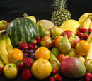 Which fruit comes in red, green, yellow and white varieties?