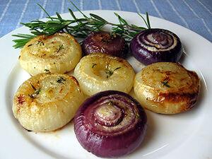 Roasted cippolini onions
