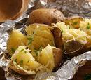 Grilled Tin Foil Cheesy Garlic Potatoes