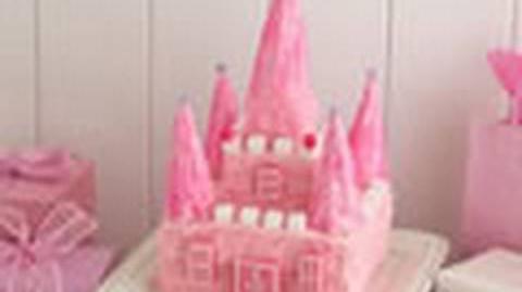 Princess castle cake - How to make a birthday castle cake