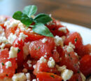 Cherry Tomato Salad with Feta and Basil Oil