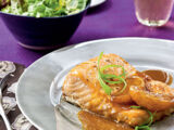Salmon with Satsuma/Soy Glaze