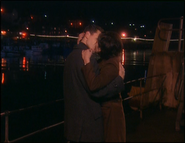 PC Mike Bradley and Jackie Lambert kiss in Friends Like You