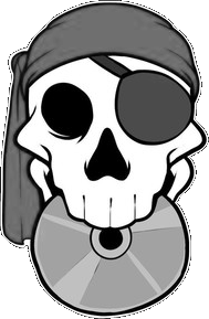 Piratesoftware logo grayscale