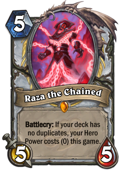 Raza The Chained Hearthstone Heroes Of Warcraft Wiki